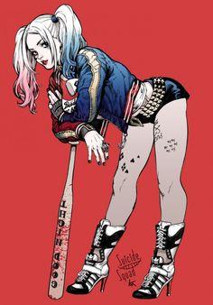 Les plus beaux fan arts d'Harley Quinn version Suicide Squad - KS Garally