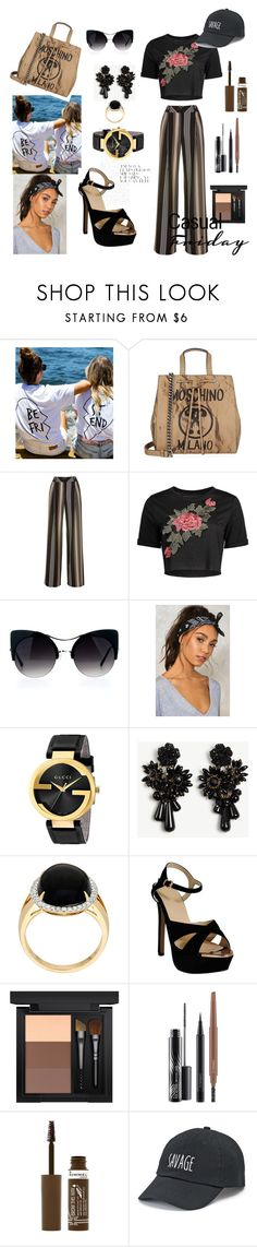 """Budi - IN"" by selma-masic1 ❤ liked on Polyvore featuring Moschino, Nasty Gal, Gucci, Ann Taylor, MAC Cosmetics, Rimmel, SO, fashionset, yoinscollection and loveyoins"