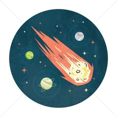 Meteor in space vector illustration , #sponsored, #space, #Meteor, #illustration, #vector #affiliate Monsters Vs Aliens, Aesthetic Space, Best Photoshop Actions, New Scientist, Space Theme, Graphic Art, Doodles, Logo Design, Design Inspiration