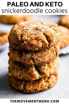 These keto snickerdoodle cookies take 5 minutes to prep and come out of the oven in just 12 minutes. They are made with almond flour, coconut flour, and sweetened with a low carb sugar replacement. You are going to love them, and they are gluten free, paleo, low carb, and keto. #snickerdoodle #cookies #paleo #lowcarb #keto Paleo Recipes Easy, Healthy Dessert Recipes, Cookie Recipes, Diabetic Snacks, Primal Recipes, Paleo Food, Paleo Diet, Paleo Cookies, Paleo Baking