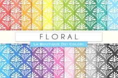 Abstract Flowers Digital Paper by La Boutique dei Colori on @creativemarket