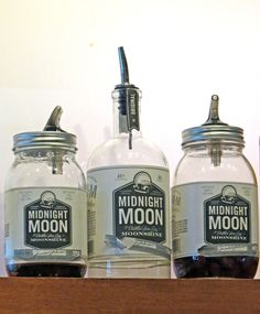 mason jar moonshine. This will be really easy since I'm collecting the jars now!