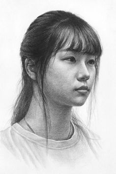 Supreme Portrait Drawing with Charcoal Ideas. Prodigious Portrait Drawing with Charcoal Ideas. Portrait Sketches, Pencil Portrait, Female Portrait, Portrait Art, Art Sketches, Woman Portrait, 3d Drawings, Realistic Drawings, Pencil Drawings