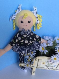 Daisy PDF Cloth Doll Pattern Great Beginner by PeekabooPorch, $9.00