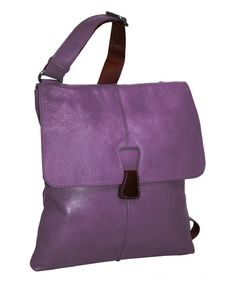 Look at this Nino Bossi Handbags Grape Cross Town Girl Leather Crossbody Bag on #zulily today!