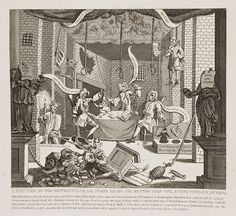 William Hogarth (1697-1764 Londres), A Just View of the British Stage (Three Heads are Better than One), 1724