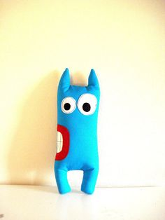 Mouth twisted Monster by cronopia6 on Etsy, $13.00