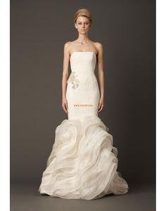 bodenlang Tülle 3/4 Arm Brautkleider 2014