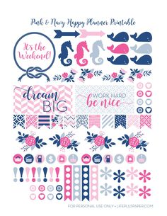 10 Pretty Planner Printables Hi friends! Alicia here from Sew What Alicia. I am a huge planner and I love making my planner pretty! Here are some pretty planner printables that you can use to add some To Do Planner, Free Planner, Planner Pages, Happy Planner, Planner Ideas, Pink Planner, Planner Supplies, Printable Planner Stickers, Calendar Stickers