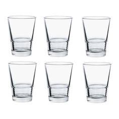 VÄNLIG Glas IKEA Stapelbar; spar plats vid förvaring. 19kr/6st
