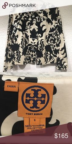 Printed Silk Jacket!! ❤️❤️❤️ Tory Burch Printed Silk Jacket in Cream and Black in Mint Condition!! ❤️ Tory Burch Jackets & Coats Blazers