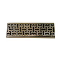 allen + roth 15-in Antique Brass Steel Wicker Baseboard Register $13 instead of $165---I think I can live with this one.