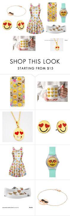 """Emoji Crazy!"" by fashionista-paradise-978 on Polyvore featuring Casetify, Kate Spade, Aamaya by priyanka, women's clothing, women, female, woman, misses and juniors"