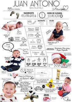 Infografía del primer año de tu bebé - CO$85.000