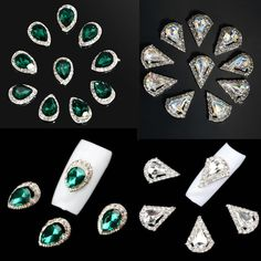 10pcs 3D Nail Art Rhinestone Crystal Glitter Alloy Charm Nail Tips  Decoration  d97eb6088832