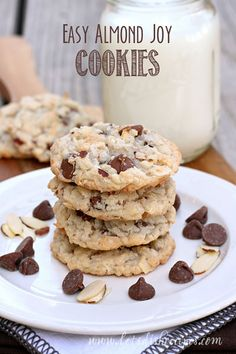 Easy Almond Joy Cookies on MyRecipeMagic.com