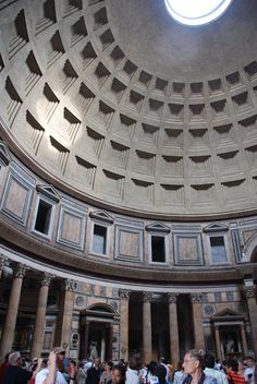 Pantheon, Rome, Italy- hole in the ceiling for light and rain to come in