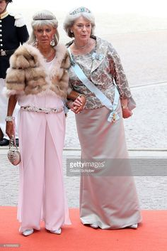 Princess Birgitta of Sweden and Princess Margaretha Mrs. Ambler attend the royal wedding of Prince Carl Philip of Sweden and Sofia Hellqvist at The Royal Palace on June 13, 2015 in Stockholm, Sweden.  (Photo by Gisela Schober/Getty Images)