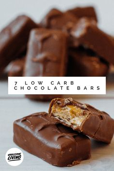 7 Low Carb Chocolate Bars: Kiss Your Cravings Goodbye Healthy Candy, Healthy Dessert Recipes, Candy Recipes, Real Food Recipes, Snack Recipes, Keto Recipes, Homemade Chocolate Bars, Homemade Peanut Butter, Low Carb Chocolate