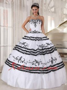 Embroidery Quinceanera Dress