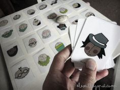 Emotions learning cards - easy toddler game. Free printable.
