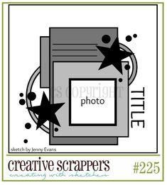 Creative Scrappers: Sketch #225