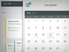 Dribbble - iOS Calendar by Chris Meeks