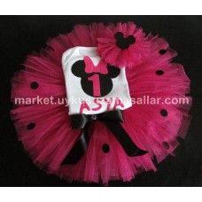 Fuşya Mini Mouse Tütü Takım.  http://market.uykusuzamasallar.com