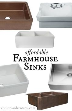 Achieve a classic, charming style in your kitchen with a deep farmhouse sink. Christina's Adventures rounds up her favorite, wallet-friendly picks.