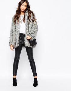 Image 4 of Religion Fluffy Faux Fur Coat