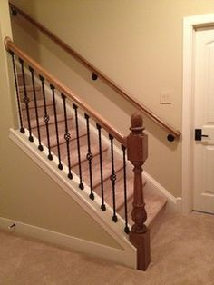 Open stairway down to basement in ranch home google for Finishing a basement step by step guide