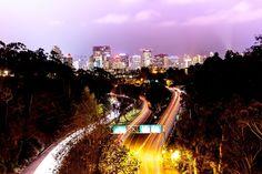 San Diego City Lights up above Balboa Park bridge. Photo by Czarina Ann.