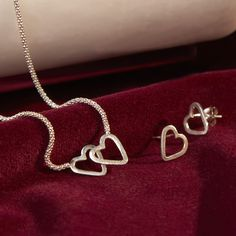 Linked Hearts Necklace and Earrings from Ten Thousand Villages.