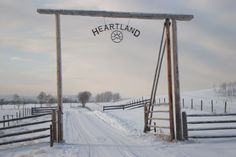 Entrance to HEARTLAND Ranch. A place for horses who have a problem can come to have a new start.