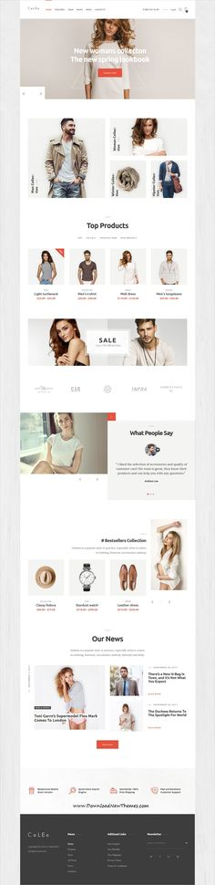 Coleo is a clean, stylish and modern design 3in1 responsive WooCommerce #WordPress #template for stunning #fashion and clothing #shop eCommerce website to download & live preview click on image or Visit #webdesign Online Web Design, News Web Design, Site Design, Ux Design, Webdesign Inspiration, Modern Website, Shops, Wordpress Theme Design, Wordpress Template