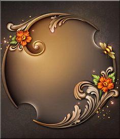 This post was discovered by Bu Frame Background, Paper Background, Azulejos Art Nouveau, Molduras Vintage, Framed Wallpaper, Flower Phone Wallpaper, Borders And Frames, Album Design, Fractal Art