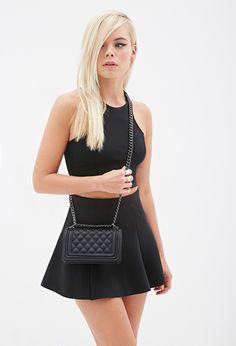 Quilted Faux Leather Crossbody | FOREVER21 - 1000135451