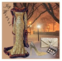 """Icy Winter"" by karen-lynn-rigmarole ❤ liked on Polyvore featuring Thierry Mugler, ShoeDazzle and icywinter"