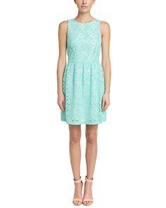 Rue La La — Kensie Splash Multi Lace Overlay Dress