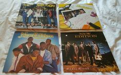 Lot includes: *Candy Girl 1983 *New Edition 1984 *All For Love 1985 *Heart Break 1988 #edition #original #record #vinyl
