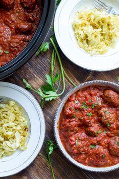 Slow-Cooker Meatballs with Marinara Sauce | Food Recipes