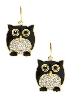Chubby Owl Earrings - so cute!
