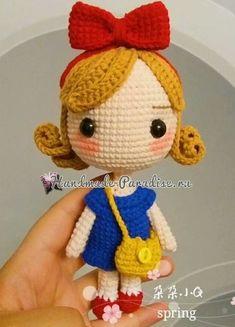 Вяжем куколку - принцессу амигуруми (7)