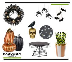 """Halloween Party Decor"" by mariannamic on Polyvore featuring interior, interiors, interior design, home, home decor, interior decorating, Meri Meri, Improvements and Halloweenparty"