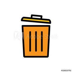 trash can icon vector template , Color Palettes, Design Inspiration, Templates, Logos, Art, Color Pallets, Models, Art Background, Kunst