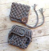 Ravelry: Diagonal Weave Pixie Bonnet & Diaper Cover Set