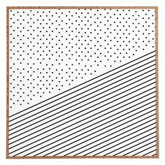DENY Designs Allyson Johnson Opposites Attract Framed Wall Art - 51180-FRWALA