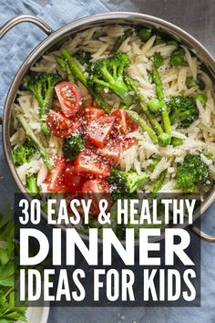 Busy weeknights call for easy dinners, and this collection of one pot meals for kids is full of simple and healthy ideas the whole family will love! Easy Dinners For Kids, Easy One Pot Meals, Healthy Meals For One, Dinner Recipes Easy Quick, Fast Easy Meals, Easy Healthy Dinners, Easy Healthy Recipes, Cheap Meals, Healthy Kids
