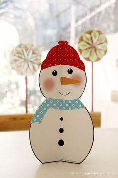 super cute paper snowman from the artisan paperie shop