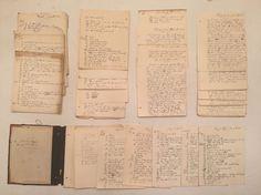 1886 Harvard Holworthy Hall James E Whitney School Work Diary Hand Written Notes  | eBay